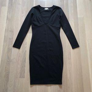 Ripley Rader Plunge Bodycon Little Black Dress